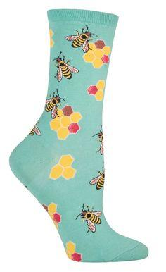 Busy Bees Socks from The Sock Drawer: Animal Socks, Shoes Socks, Bees Socks, Products, Bees Communicate