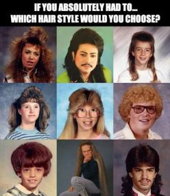 Choosing a hair style… (Bottom left for me. Could potentially turn it into a cute bob.): Hairstyles, Giggle, Bottom Middle, Funny Stuff, Hair Style, Humor, Funnies, 80 S