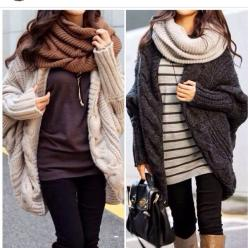cozy winter outfits, ahhhh love the big sweaters and big scarves: Dream Closet, Infinity Scarf, Cozy Winter Outfit, Fall Winter Outfit, Fall Outfit, Big Sweater, Chunky Cardigan