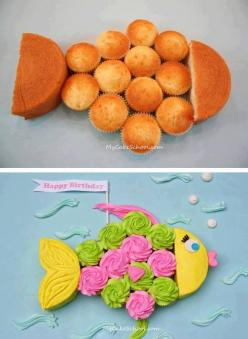 Didn't know whether to file this under 'YUM' or 'TOO CUTE' since it's BOTH!! :o)  ....  http://www.mycakeschool.com/blog/fish-cupcake-cakea-blog-tutorial/  ....https://fbcdn-sphotos-a-a.akamaihd.net/hphotos-ak-ash4/998520_535267576