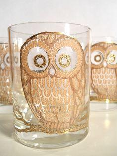 Golden Owl glasses from Georges Briard these go perfect with my dishes :p