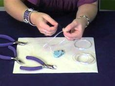 How to set a pendant with wire wrapping - #wire #jewelry #tutorial #wrap