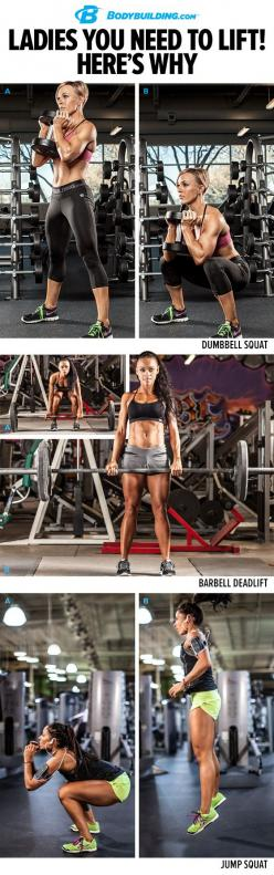 LADIES, if you want get fit, you need to lift weights. Learn the many benefits of strength training, and get started with this complete training plan! Bodybuilding.com: Lift Weights, Strength Training, Lifting Weight, Weight Lifting Workout, Gym Workout P