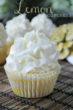 Lemon Cupcakes- the best white cake batter from scratch with a hint of lemon, topped with a #lemon buttercream frosting! #cupcakes www.shugarysweets.com: White Cake, Cupcakes Cake, Lemon Buttercream, Cupcake Recipe, Cup Cake, Buttercream Frosting, Lemon C