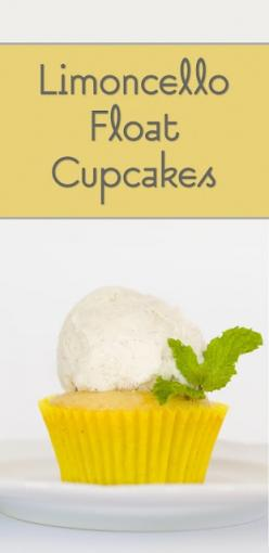 Limoncello Float Cupcakes (from Cupcake Project - cupcakeproject.com): Projects, Idea, Cupcake Project, Cupcake Recipes, Float Cupcakes, Cupcakes Recipe, Limoncello Float, Dessert