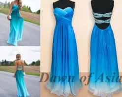 Long prom dress  blue prom dress / backless prom by http://okbridal.storenvy.com/collections/977661-long-prom-dress/products/11301711-chiffon-gradient-prom-dresses-gradient-prom-dress-chiffon-prom-dresses-l: Formal Dresses, Backless Prom, Blue Prom, Long