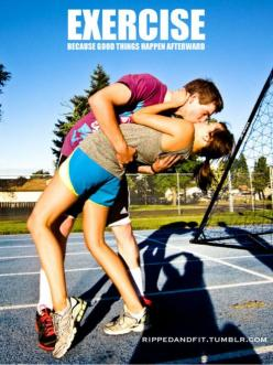 <3 haha cute! ;-)  Earn while you Burn: http://www.Make1kaday.com: Inspiration, Good Things, Things Happen, Happen Afterward, Exercise, Work Out, Fitness Motivation, Health, Workout Couple