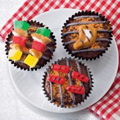 make your dad an edible gift for Father's Day {like these barbeque cupcakes!} #cupcakes: Fun Recipes, Idea, Father'Sday, Food, Fathers Day, Father'S Day, Dessert