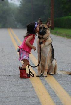 Oh, how I love this photo, heartwarming connection between a girl and her dog. kudos to the photographer!!!: Animals, Dogs, Sweet, Friends, Girl, Pet, German Shepherds, German Shepard