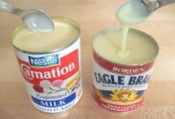 Oh no ~~ Should I really know how to make Eagle Brand milk from SCRATCH??  .......  YES.   3/4 cup powdered milk 3/4 cup sugar 1/2 cup hot water Blend until smooth. This recipe equals one can of store bought condensed milk.: Copycat, Diy Food, Hot Water,