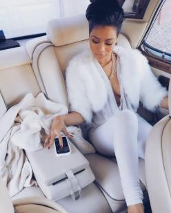 Pinning from, veenusss ♡: Car, Outfits, All White, Girl, Fashion Style, Lux Life, Clothes, Fur, Luxury Lifestyle