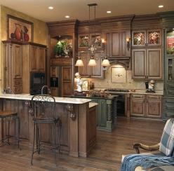 Rustic Kitchen Cabinets - Bing Images: Cabinet Colors, Dream House, Rustic Kitchens, Kitchen Ideas, Dream Kitchens, Rustic Kitchen Cabinets, Design, Kitchencabinet