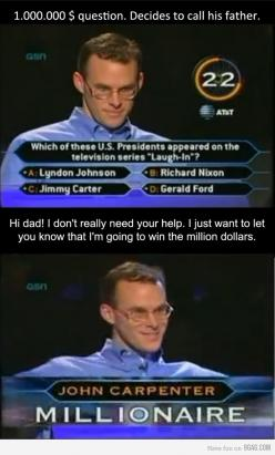 Trolling Who Wants to be a Millionaire, i have to see this!: Like A Boss, Giggle, Remember This, Guy, Awesome, Remember Watching, Funny Stuff, Funnie