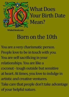 What Does Your Birth Date Mean?- Born on the 10th