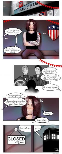 Who the hell is Bucky? (Marvel/DW) by ice-cream-skies on deviantART: Nerd Stuff, Who The Hell Is Bucky, Deviantart, Yep Ahhh, Ahhhhhhhhhhhhhhhhhh X50, Aw Bucky, Bucky Barnes, Ahhhhhh Ahhhhh, Bucky Meets