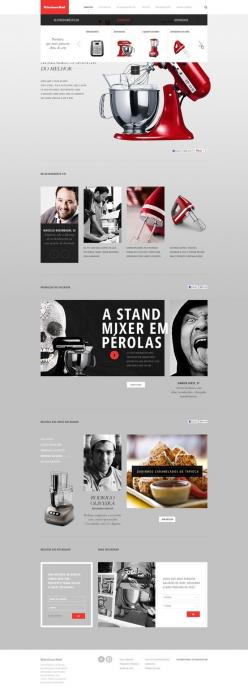 25 Awesome Web Designs | From up North: Design Inspiration, Webdesign, Ui Design, Kitchen Aid, Web Design, Kitchenaid, Web Ui, Ui Ux