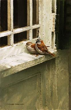 """Are not five sparrows sold for two pennies? Yet not one of them is forgotten by God. Indeed the very hairs of your head are all numbered. Don't be afraid; you are worth more than many sparrows. "" Luke 12:6-7: Windowsill, Inspiration, God, Bir"