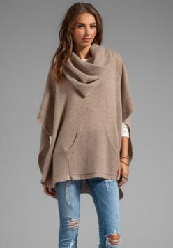 360 SWEATER Laurel Cashmere Poncho in Heather Camel at Revolve Clothing - Free Shipping!: Sweaters, Laurel Cashmere, Style, Sweater Laurel, Ponchos, Fall Winter