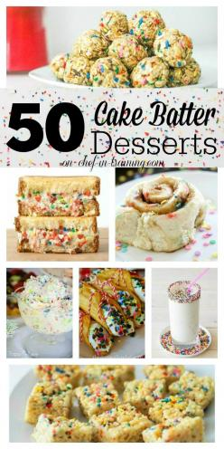 50 Delicious Cake Batter Desserts at chef-in-training.com… If you love cake batter, you need to see this list!: 50 Delicious, Delicious Cake, Batter Desserts, Cake Mix, Cake Batter, Chef In Training Com, Cakebatter