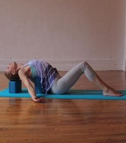 8 Yoga Poses To Help Cervical Spine & Neck Issues. I was just introduced to supported fish pose this weekend.: Body, Cervical Spine, Yoga Poses, Deep Breath, Stretch, Exercise, Neck Issues, Help Cervical, Workout