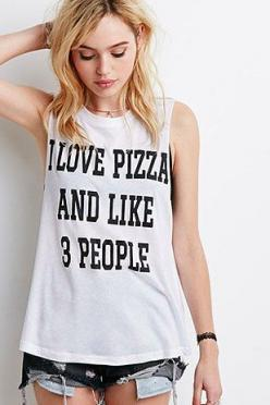 An Honest Discussion About Forever 21's Graphic T-Shirts: Graphic Tees, Graphic Tank, I Love Pizza, Forever21, Graphic Tee Outfit, Muscle Tees