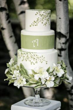 Ana Parzych Cakes - photo by Prestige-Barkley Photographic Design: Floral Design, Spring Weddings, Wedding Ideas, White Weddings, White Wedding Cakes, Green Weddings