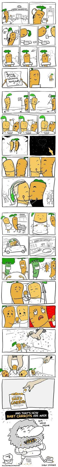 And that's how baby carrots are made.
