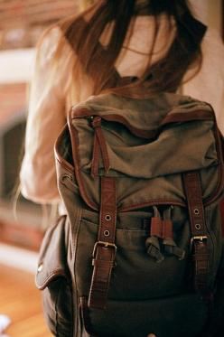 backpack is cute, and looks sturdy enough... #serbags #backpacks: Fashion, Style, College Backpack, College Bookbag, Serbags Backpacks, College School Bag, Canvas Bookbag