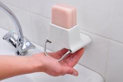 Bar soap is far more earth friendly than the liquid soap we ALL use and this little device makes it fun and easier to use bar soap. Love it!!: Soap Dispenser, Soaps, Ideas, Soap Flakes, Liquid Soap, Bathroom, Products