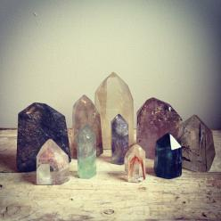 beautiful crystal points, perfect for focusing energy.: Gemstone, Stones Gems, Crystal, Healing Crystals, Crystals Minerals, Beautiful Crystals, Crystals Rocks, Crystal Healing