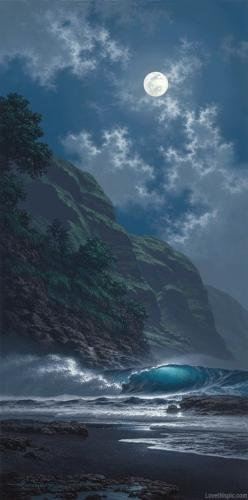 Black Sand Magic - giclee by ©Roy Tabora http://taborastudio.com: Nature, Art, Ocean, Full Moon, Place, Black Sand, Photo, Moonlight