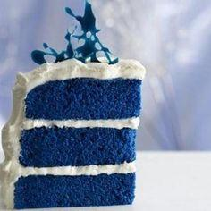 Blue Velvet Cake~This one comes from the Food Network.Duff from Ace of Cakes was on a Paula Deen show.Overall a quality cake that tastes just like it came from the bakery.: Cake Recipe, Royals, Food, Recipes, Blue Cakes, Bluevelvet, Blue Velvet Cakes, Roy