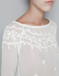 BLUSA  BORDADO FLORES PERLAS -: Style, Lace Top, Lace Blouse, White Lace, White Blouses, White Tops