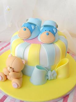 Bootie cake with teddy: Showers, Chá De, Baby Shower Cakes, De Bebê, Cake Ideas, Bootie Cake, Baby Boy, Baby Cakes, Baby Shower