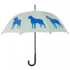 Boston Terrier Umbrella ~ Identify yourself and your favorite dog breed with this beautiful rain umbrella featuring a Boston Terrier silhouette image. Take this stylish umbrella with you to the park, on walks, on errands … wherever it's raining, this umbr