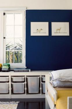 Boys nursery with Sharon Montrose prints.: Home Tours, Wall Color, Boy Rooms, Storage Idea, Los Angeles, Toy Storage, Boys Room, Bedroom, Kids Rooms