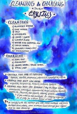 cleansing crystals, this helps a lot. AND PROOF THAT THERE IS NOT JUST ONE WAY. I never use just one way to cleanse and charge.: Charging Crystals, Gemstones, Healing Crystals, Crystals Stones, Healing Stones, Rock, Crystal Healing