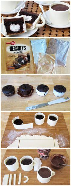 Cupcake Coffee Cups, what a fun and cute idea! Everyone would think I'm drinking coffee then I turn around and eat my cupcake! #cupcake #cupcakecoffeecups #bettycrocker