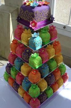 cupcakes: Cupcakes, Color, Wedding Ideas, Weddings, Food, Cake Ideas, Wedding Cakes, Mini Cakes
