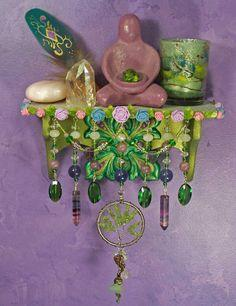 Fairie Tree Mini Wall Altar - OOAK Pagan/Fantasy Decor