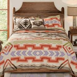 great website for rustic bedding  decor: Pendleton Blankets, Western Bedroom, Decor Ideas, Saxony Blanket, Saxony Bedding, Fe Saxony, Santa Fe