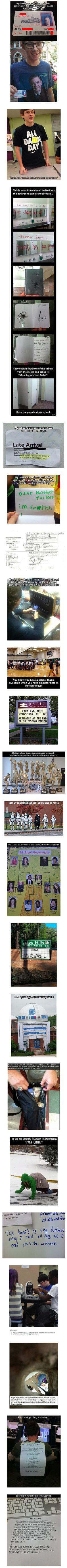 Here are some funny and geeky things that have been spotted at schools.   Why can't my school be more like this!!!!: Giggle, Random Funny, Funny Things, Funny School, Geeky Things, Funny Stuff, Chamber Of Secrets, High Schools