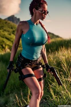https://www.facebook.com/MakeItBurnNow Bianca Beauchamp as Lara Croft. 23 Hot Latex Cosplay Outfits: Laracroft, Tomb Raiders, Sexy Cosplay, Cosplay Outfit, Cosplay Girls, Costume, Lara Croft, Bianca Beauchamp