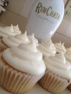I can't wait to try these Rum Chata cupcakes with Rum Chata frosting! If you dont want to spend $25 on Rum Chata and you live near a Spanish cooking supply store you can get Horchata in the refrigerated section.. tastes EXACTLY like Rum Chata without