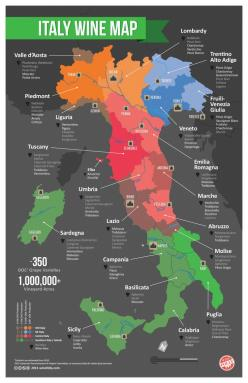 Italian wine map.  Necessary to help keep your Barberas, Barolos, Brunellos and Barbarescos straight!: Maps, Italian Wine, Wine Regions, Italy Wine