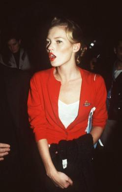 Kate Moss by Jerzy Dabrowski. Los Angeles. November 8, 1994: Fashion, Girl, Red, Style, Vivienne Westwood, Katemoss, People, Kate Moss