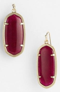Kendra Scott 'Elle' Drop Earrings in Maroon Jade at Nordstrom.com.: Earrings Flaunting, Gift Guide, Drop Earrings, Kendra Scott Earrings Elle, L'Wren Scott, Colorful Stone, It Scott, Kendra Scott Ring, Maroon Jade