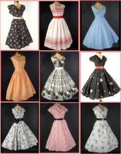 love the style of these dresses: 1950S, Clothing, Clothes, Vintage Dresses, Vintage Fashion, Styles, 1950 S, 50S Dresses, Vintage Style