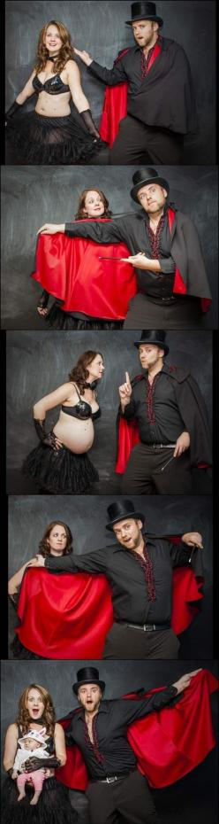 Magician dad announcement...: Photos, Picture, Baby Announcement, Photo Ideas, Stuff, Pregnancy, Funny, Photography