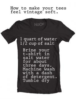 make a shirt feel vintage soft.  we have to try this @tareweight, @Tricia Taylor, @Therese Taylor: Work, Feel Vintage, Vintage Tee, Tshirts, Tees Feel, Vintage Soft, Soft Tee, T Shirts, Diy
